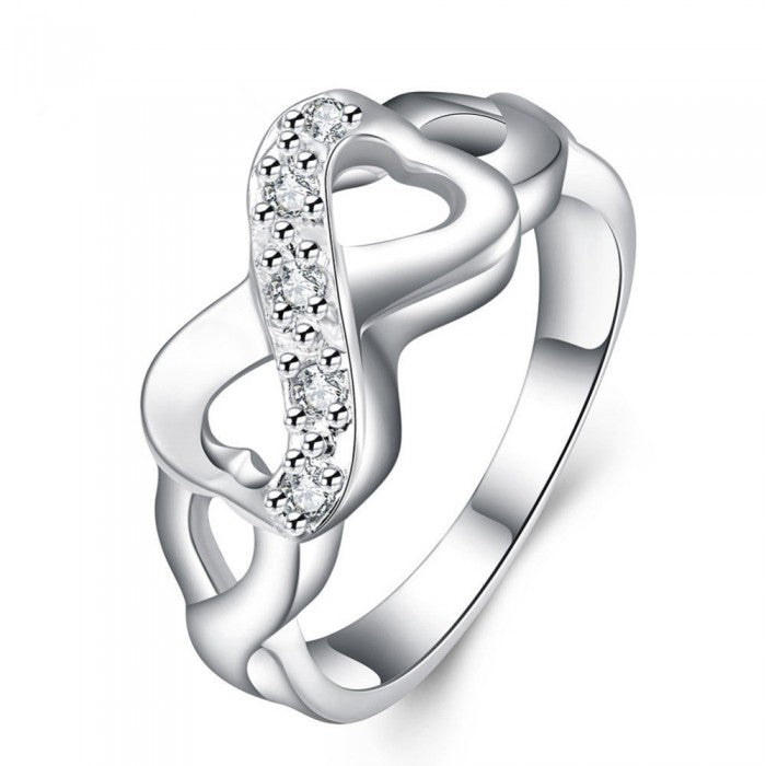 18K White-Gold Plated Immensity Ring-Romatco