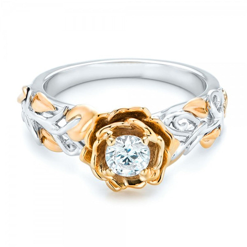 Elegant Rose Flower Ring - Romatco Jewelry