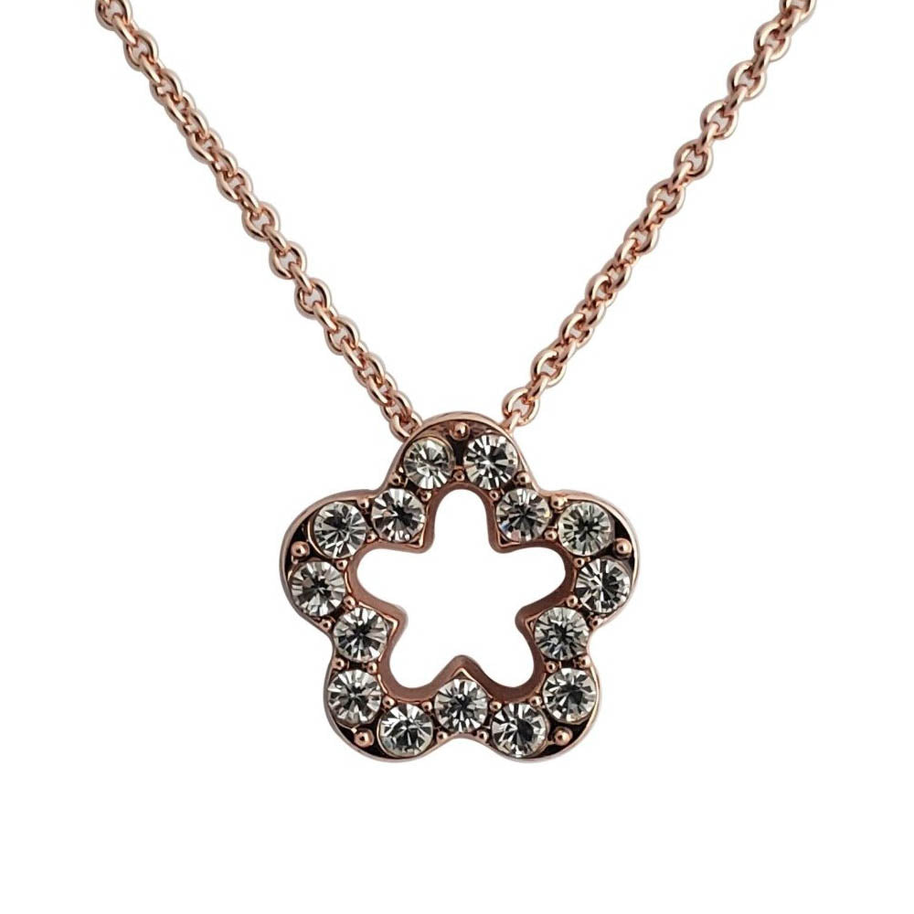 Flower Shape Pendant Necklace - Romatco Jewelry