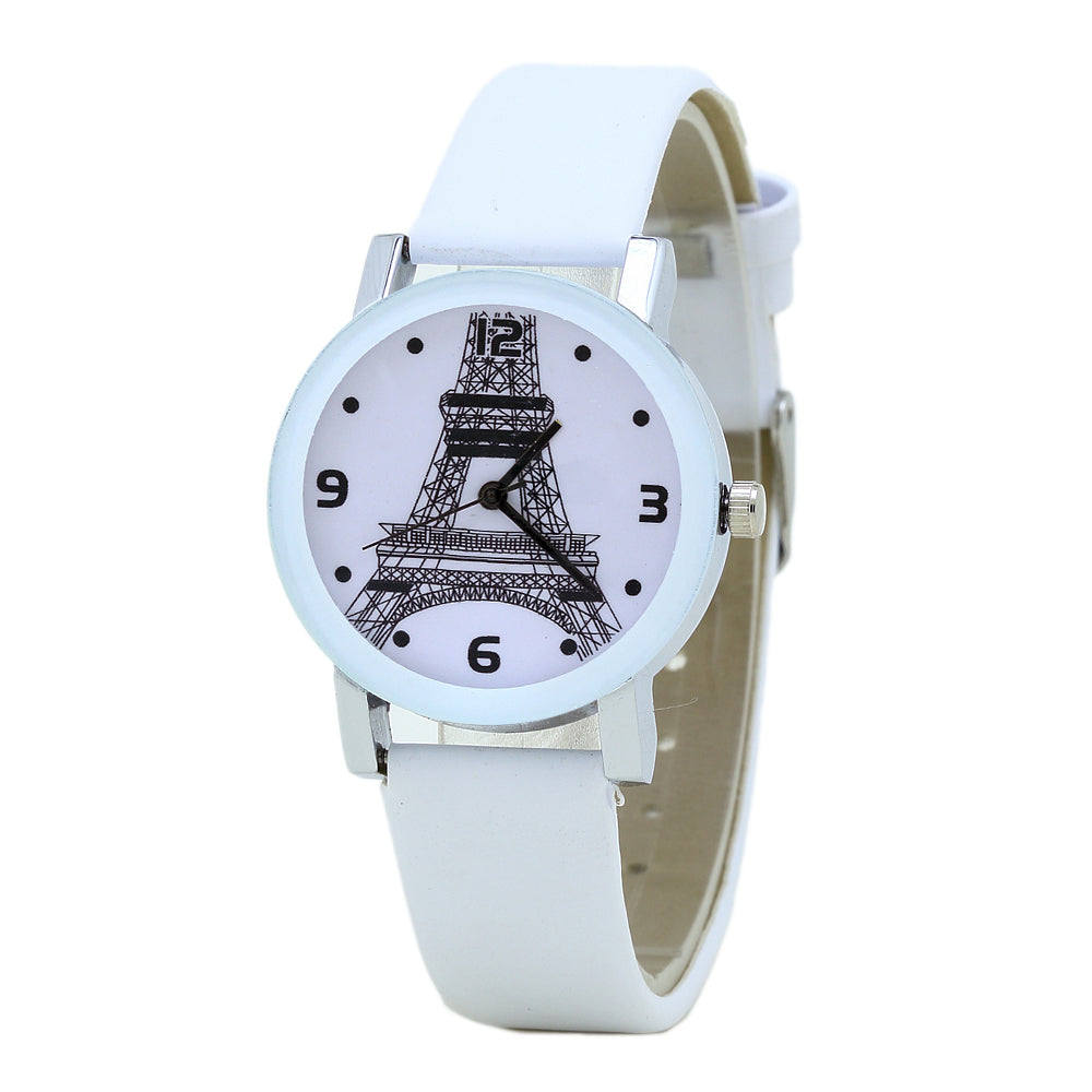 High Eiffel Print Watch-Romatco
