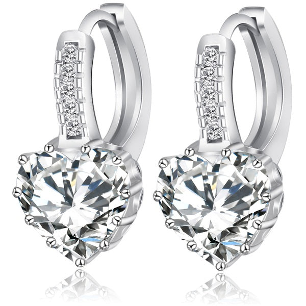 3CTTW Heart Earrings - Romatco Jewelry