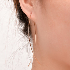 Fish-Hook Pull-through Earrings-Romatco