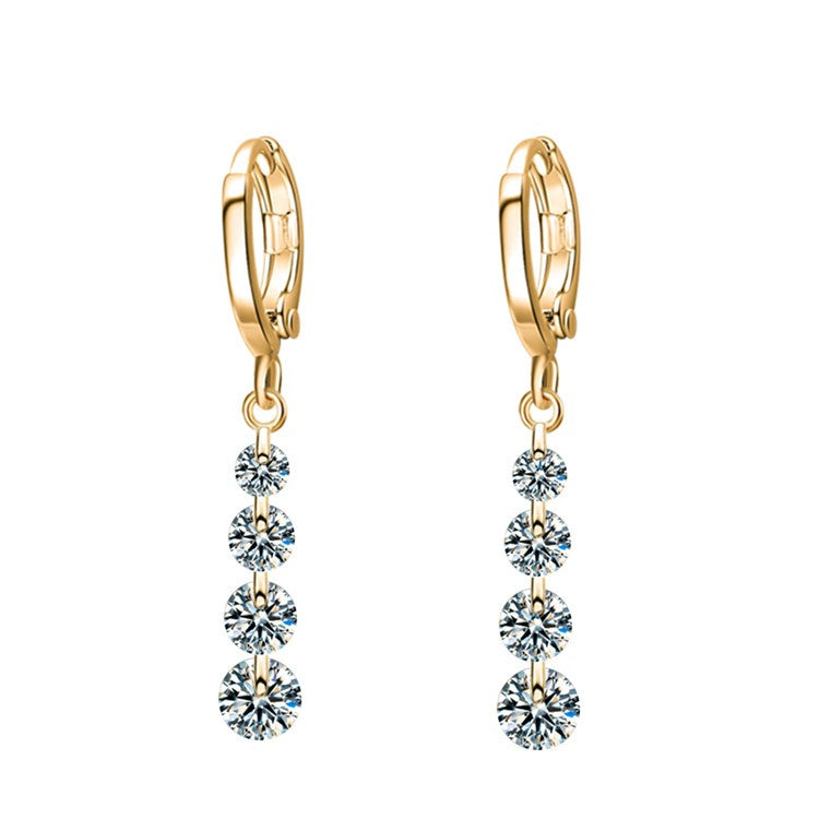22K Gold Plated Sian Drop Earrings-Romatco