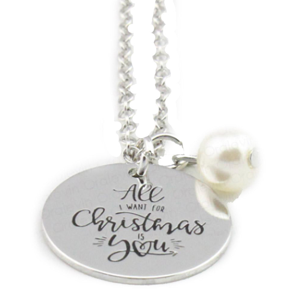 All I Want for Christmas Is You Necklace-Romatco