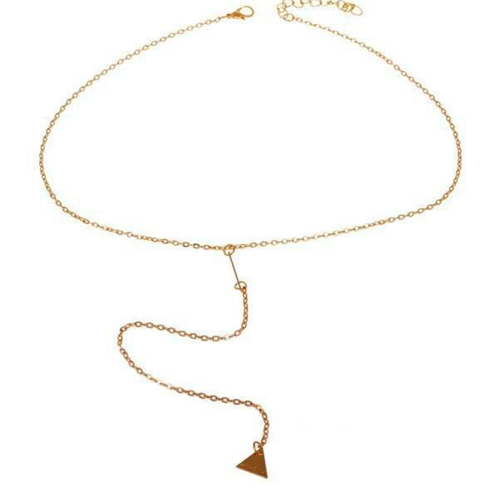 Bar and Triangle Necklace