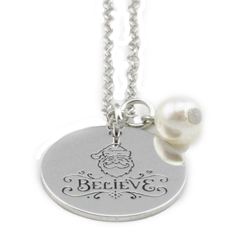 Believe Hand Stamped Necklace-Romatco