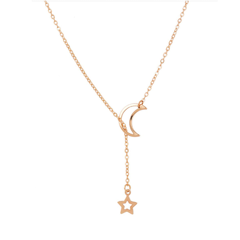 Bohemian Moon and Star Necklace