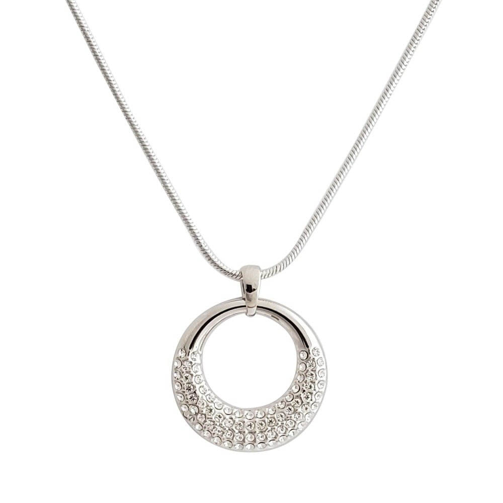 Classic Circle Pendant Necklace - Romatco Jewelry