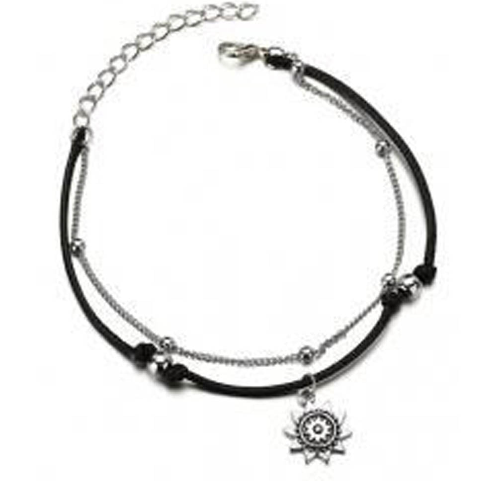 Double Layer Sun Charm Anklet