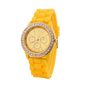 Genelia Silicon Jelly Watch-Romatco