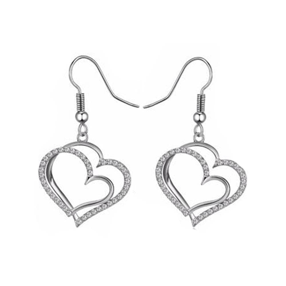 Genny Heart Earrings - Romatco Jewelry