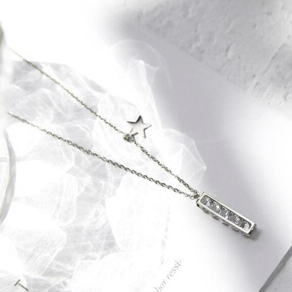 18K White-Gold plated Luxury Necklace