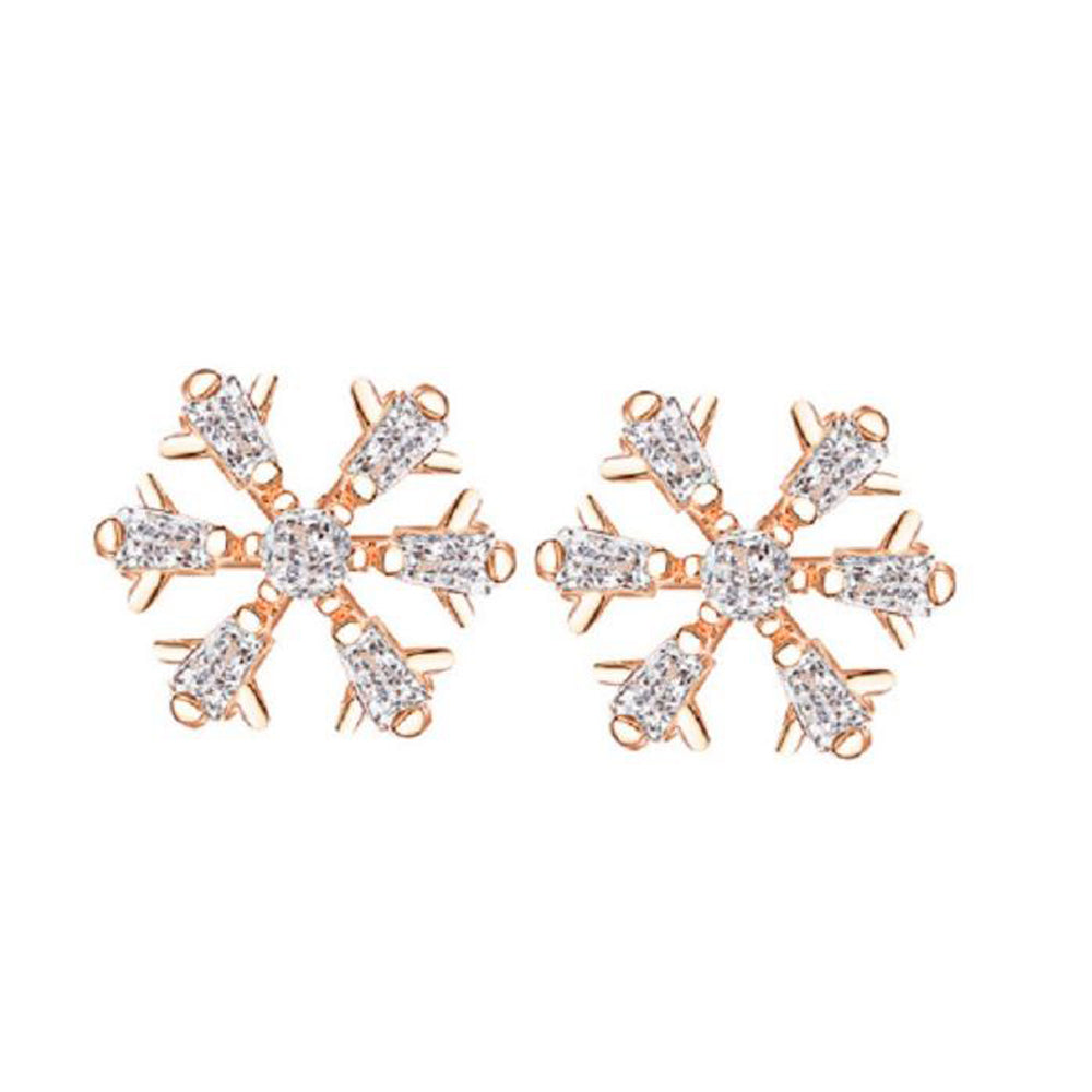 Snowflake Earrings - Romatco Jewelry