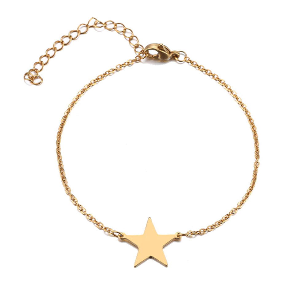 22K Gold plated Star Charm Bracelet - Romatco Jewelry