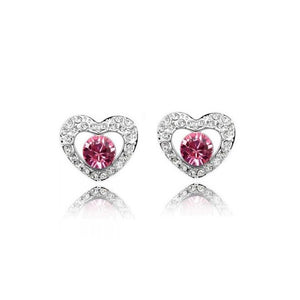 18K White-Gold Plated Royal Princess Earrings-Romatco