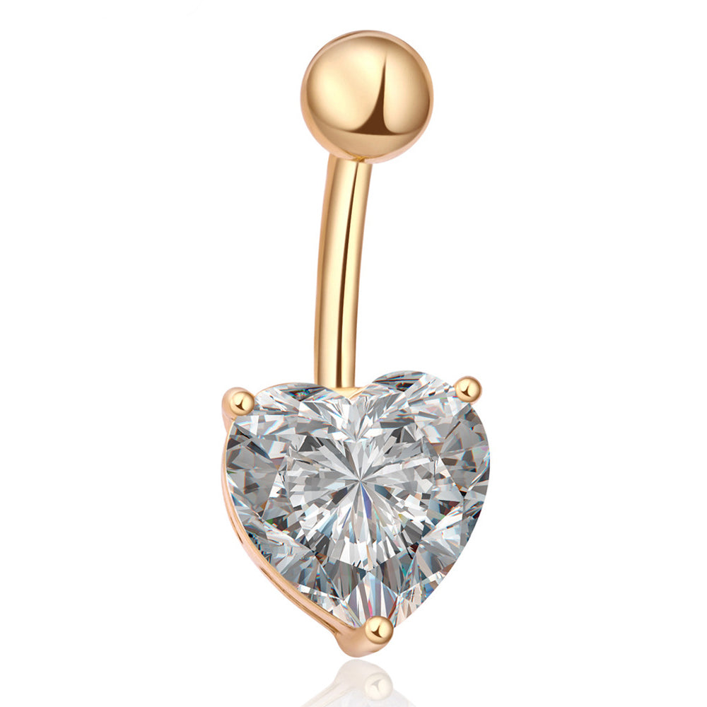 Heart Shape Belly Button Bar-Romatco