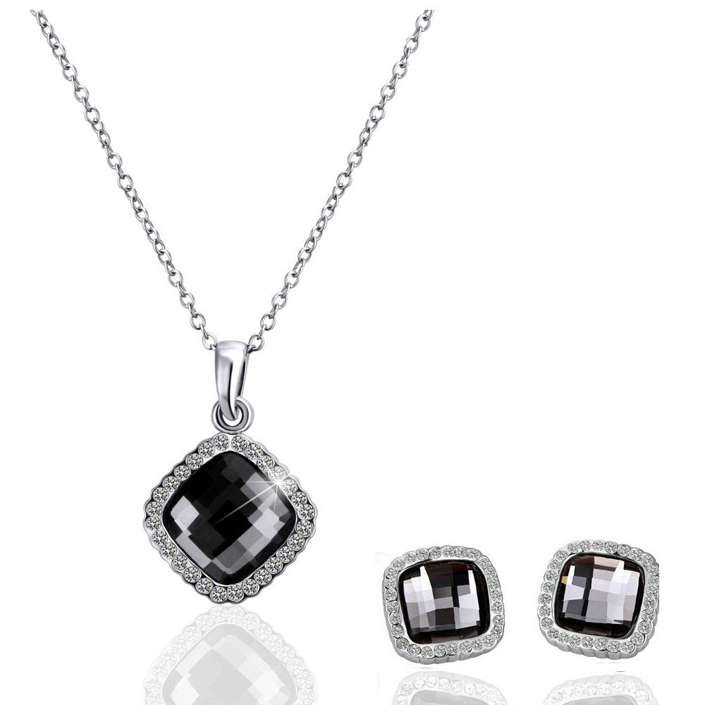 18K White-Gold Plated Temptation set - Romatco Jewelry