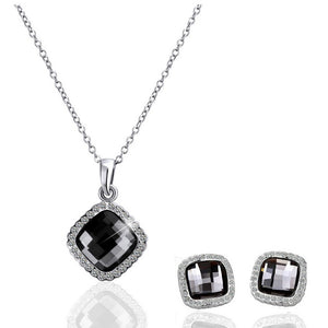 18K White-Gold Plated Temptation set Jewelry Set romatco.myshopify.com