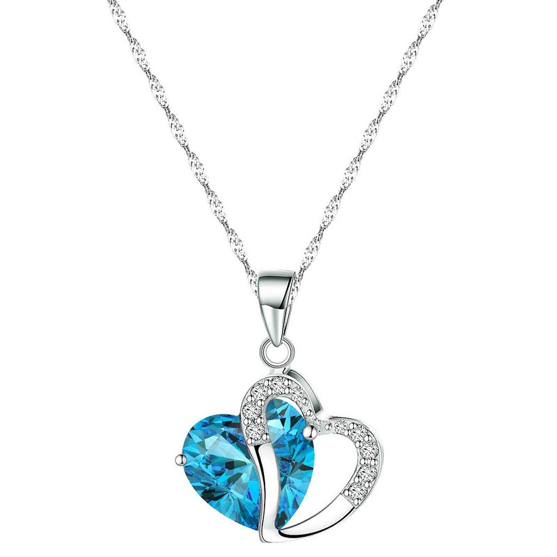 18K White-Gold Plated Love Necklace Necklace romatco.myshopify.com