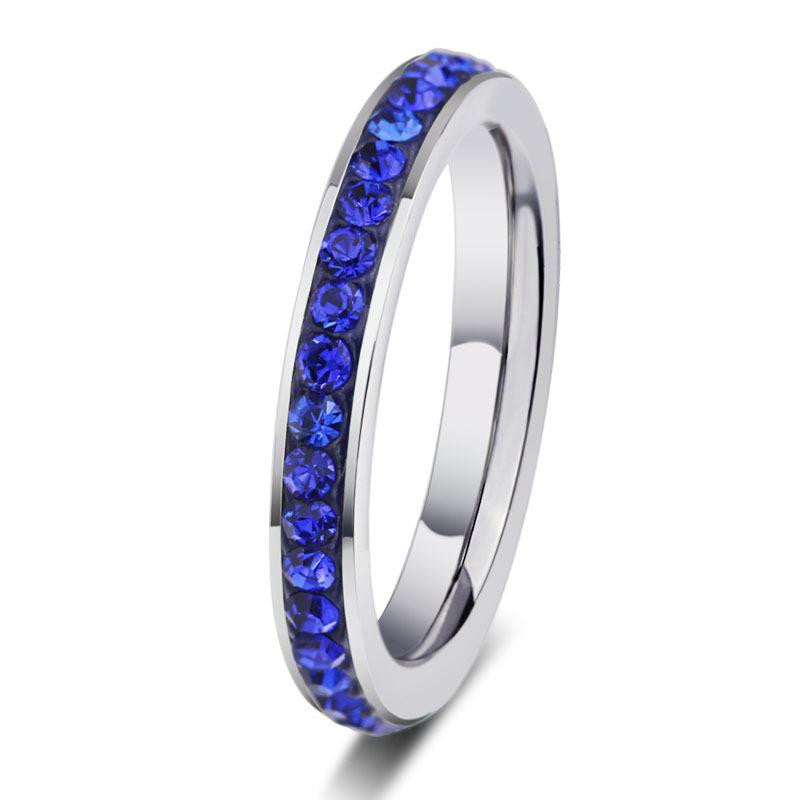 18K White-Gold Plated Eternity Bliss Rings - Romatco Jewelry