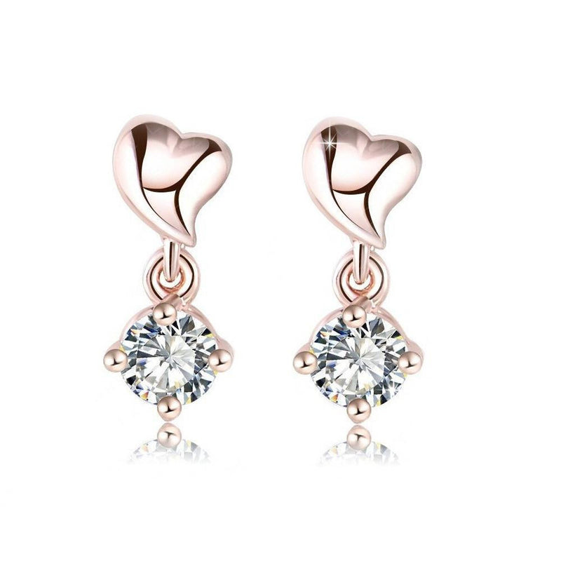 14K Rose-Gold plated Lisa Earrings Earrings romatco.myshopify.com