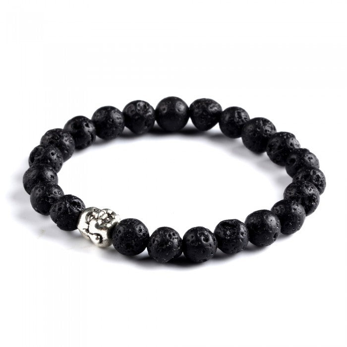 Natural Stone Buddha Beaded Bracelet-Romatco