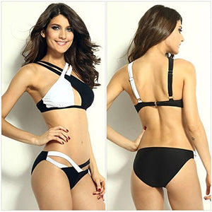 Misha Swim Suit-Black & White-Romatco