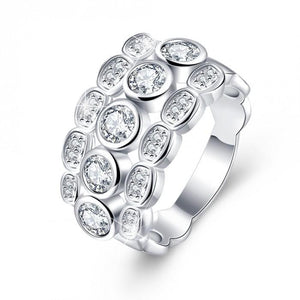 18K White-Gold Plated Cecilia Ring-Romatco