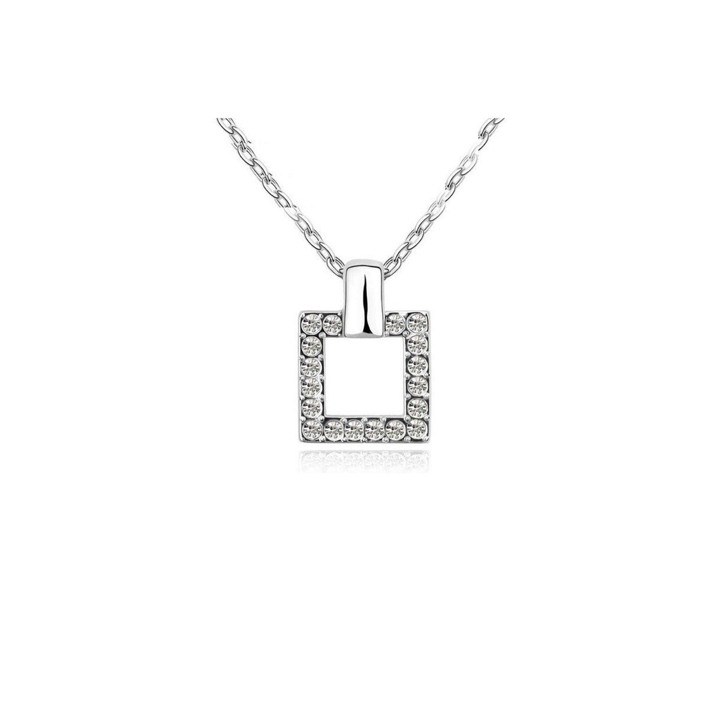 18K White-Gold Plated Charming Square Set-Romatco