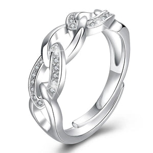 18K White-Gold Plated Denise Ring-Romatco