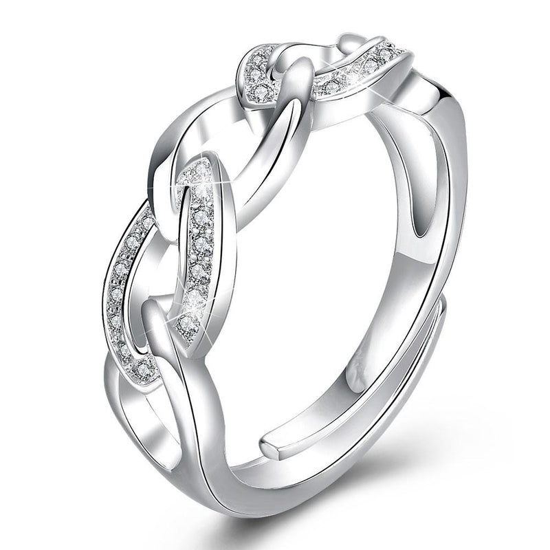 18K White-Gold Plated Denise Ring