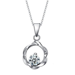 18K White-Gold Plated Moonlight Necklace Necklace romatco.myshopify.com