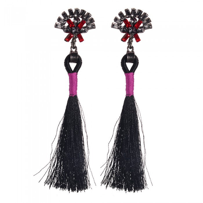Eliena Tassel Drop Earrings-Romatco