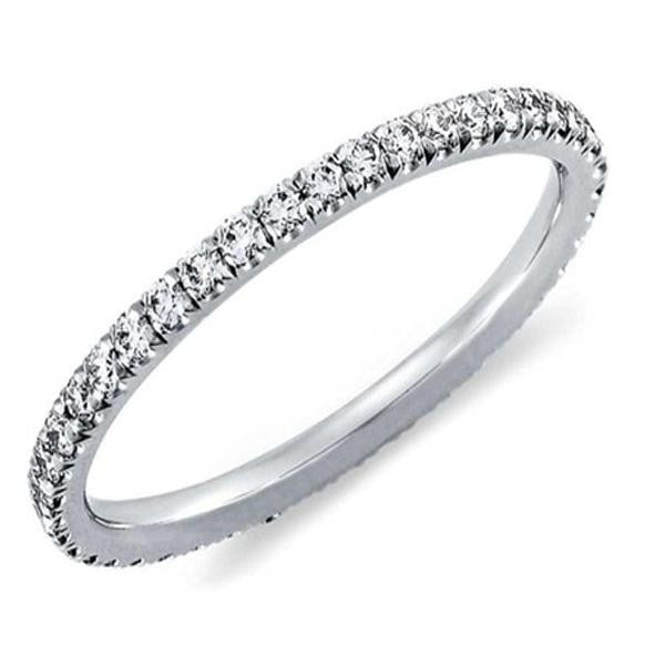 18K White-Gold Plated Eternity Ring - Romatco Jewelry