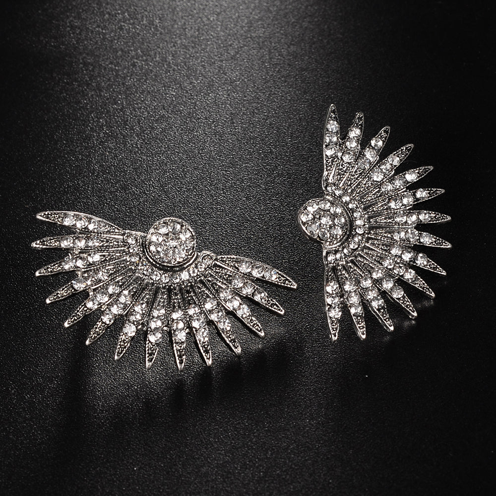 Feather Stud Earrings-Romatco