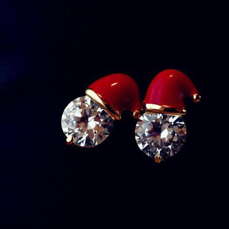 Santa Hat Earrings-Romatco