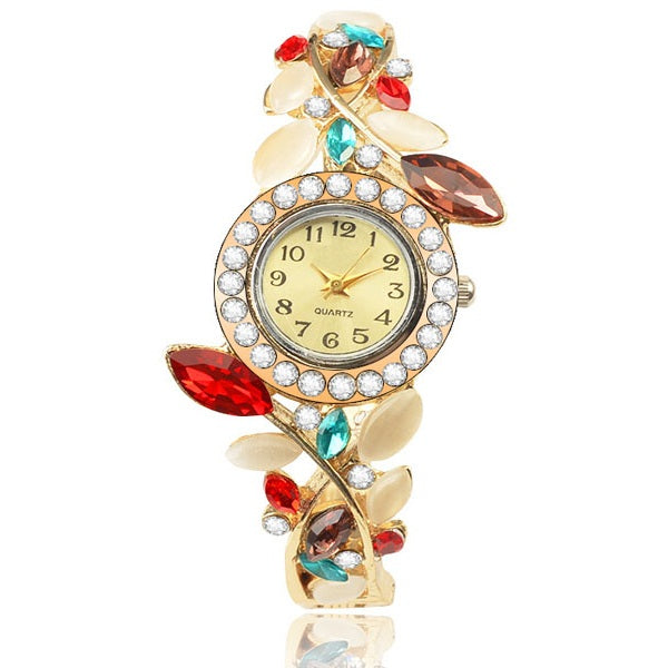 Floral Bangle Watch-Romatco