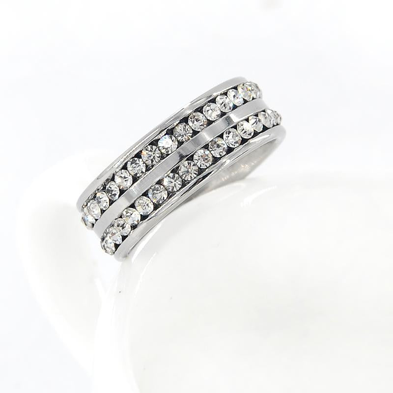 18K White-Gold Plated Esmee Ring-Romatco