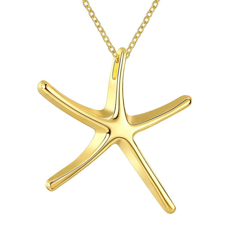 22K Gold plated Star Necklace-Romatco