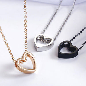 Hollow Heart Necklace-Romatco