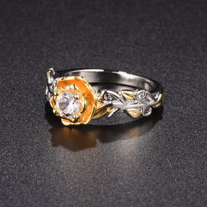 Elegant Rose Flower Ring-Romatco