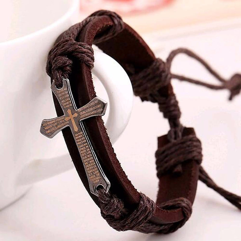 Prayer Cross Bracelet Mens Bracelet romatco.myshopify.com