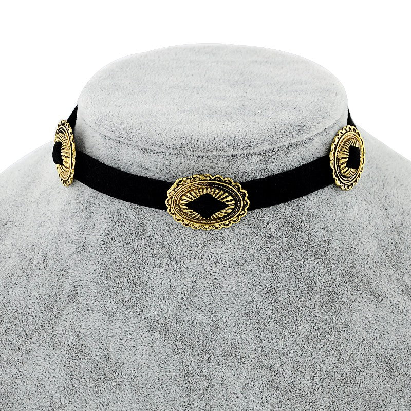 Ladies Charms Choker Necklace-Romatco