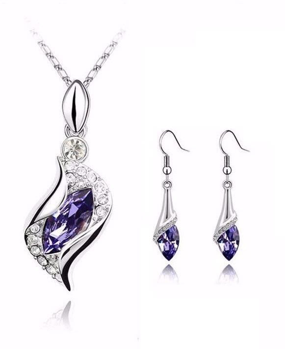 18K White-Gold Plated Arya Set - Romatco Jewelry