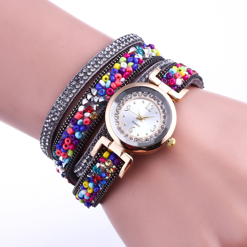 Multi-Colour Beaded Watch-Romatco