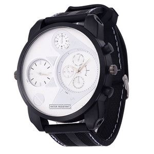 Sports Rubber Watch- White