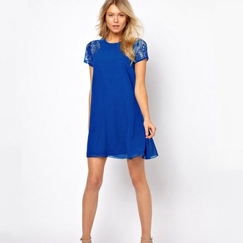Nicki Slim Dress-Blue-Romatco