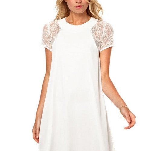 Nicki Slim Dress-White-Romatco