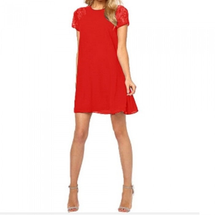 Nicki Slim Dress-Red-Romatco