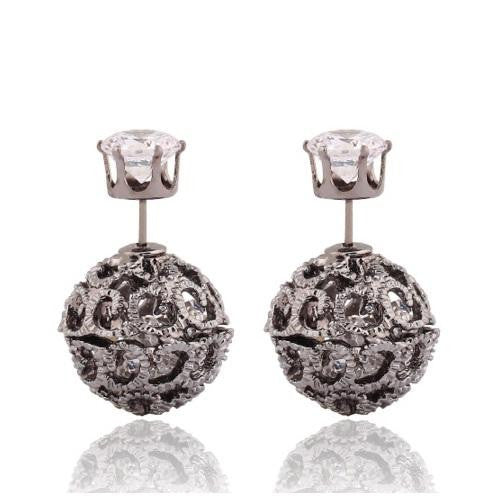18K White-Gold plated Esme Earrings